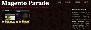 Screenshot from Magento Parade