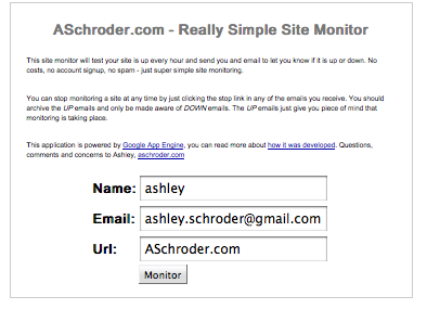 The whole website monitor - too simple