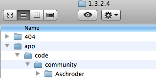 Put the Aschroder directory into the community directory.