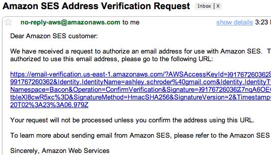 Verify SES Email