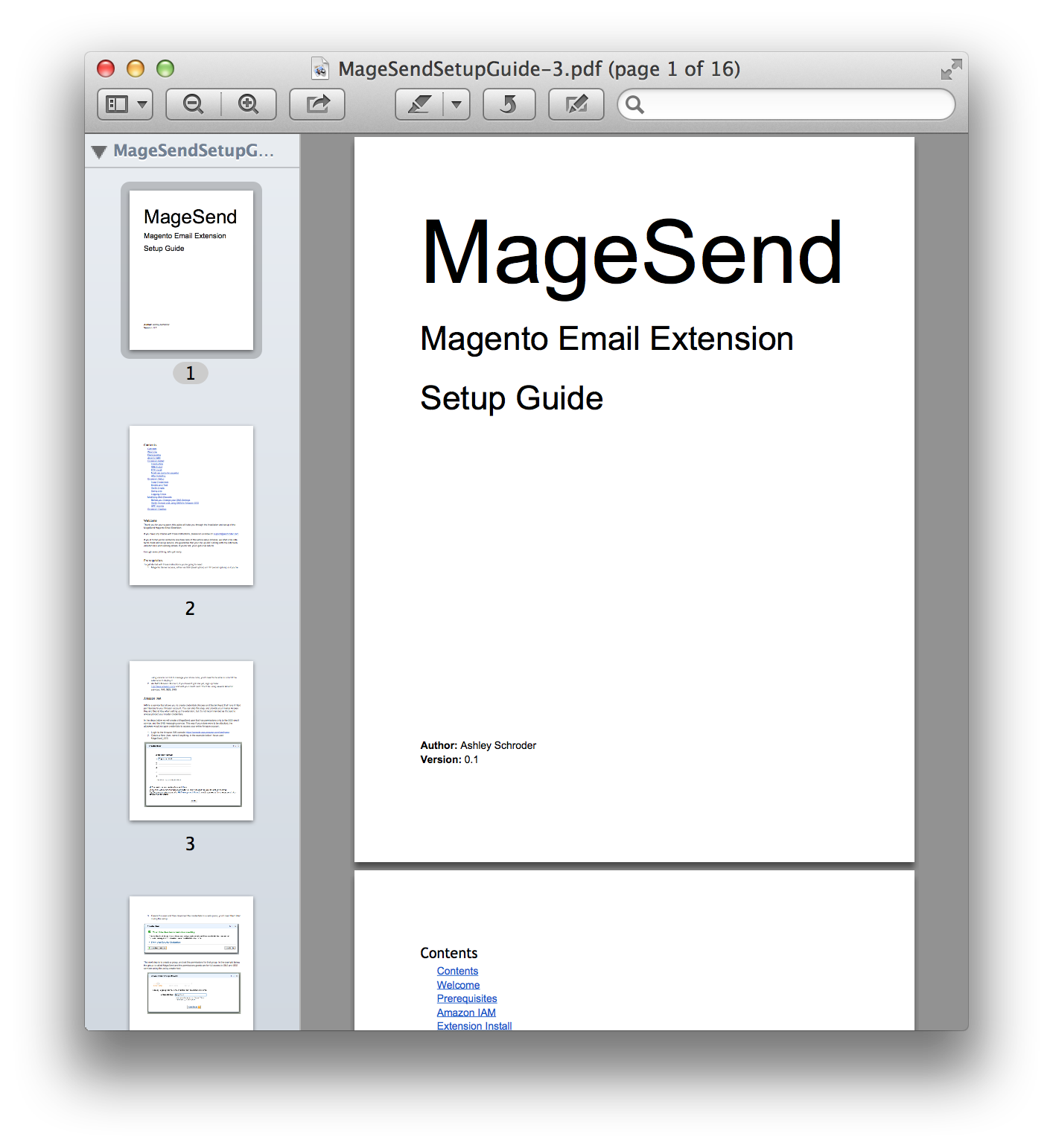 MageSend Documentation